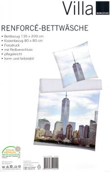 Bettwäsche New York - One World Trade Center - 135 x 200cm + 80x 80cm - Renforcé