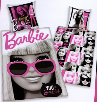 Bettwäsche Barbie - Always Believe - 135 x 200 cm + 80 x 80 cm - 100% Baumwolle