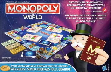 Monopoly World - Here & Now - Brettspiel - Hasbro Gaming - NEU+OVP.