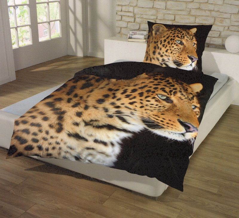 bettw sche leopard makro mikrofaser 135 x 200 cm afrika style bettw sche spiele und. Black Bedroom Furniture Sets. Home Design Ideas