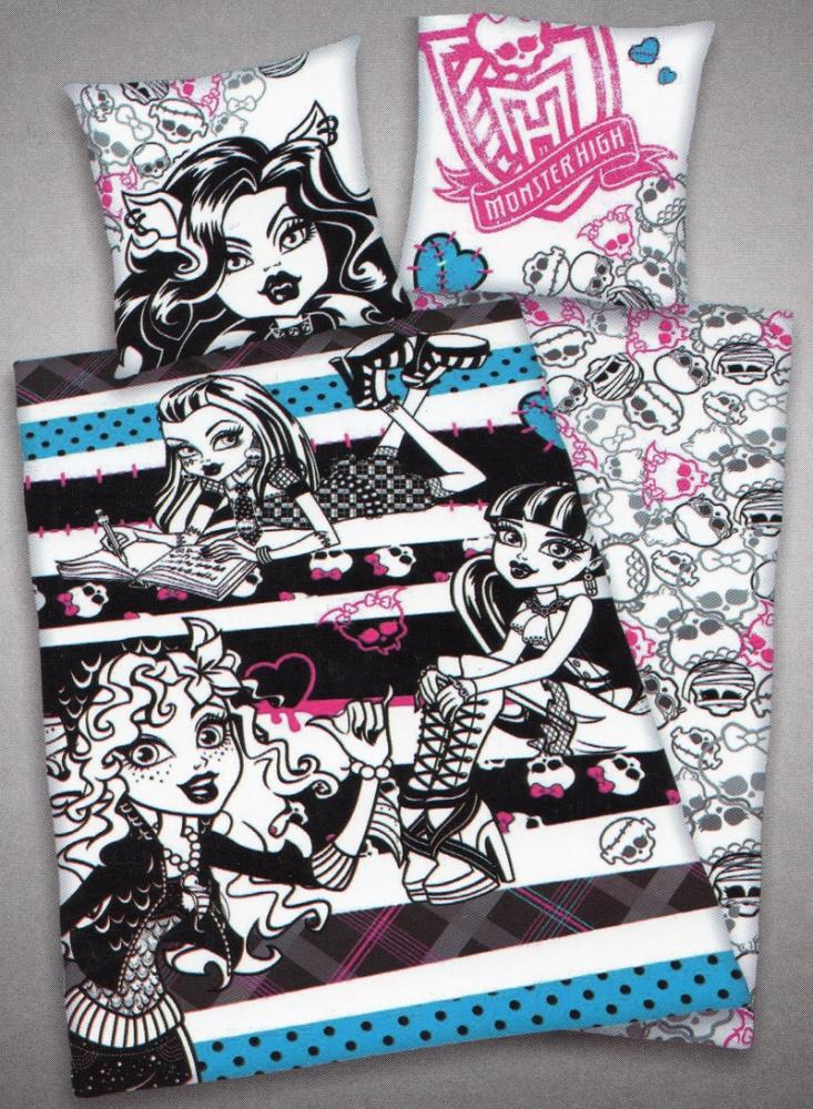 Herding Bettwäsche Monster High - 135 x 200 cm + 80 x 80 cm - 100% Baumwolle