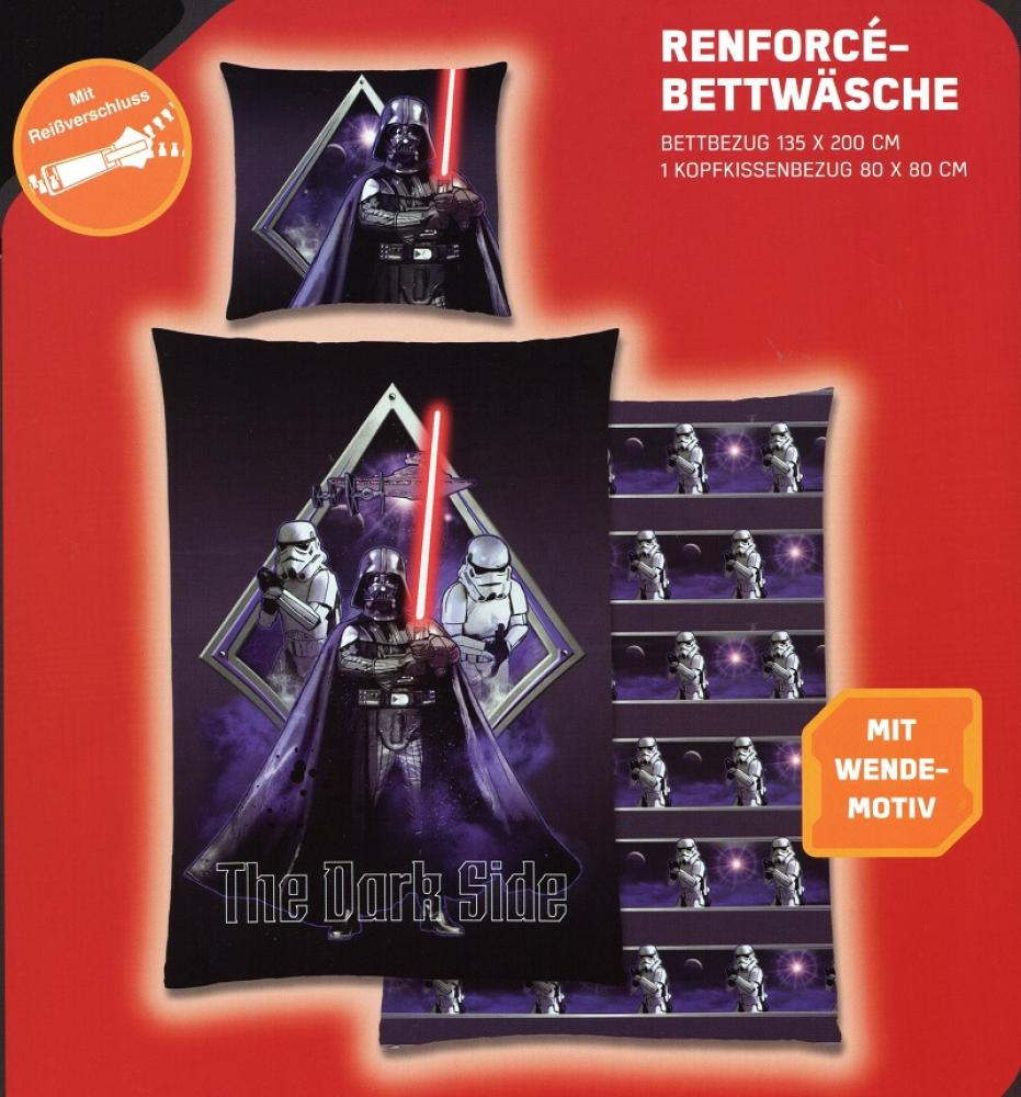 Disney Star Wars Bettwäsche The Dark Side - Darth Vader - 135x 200cm + 80x 80cm