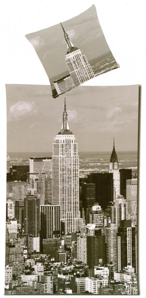 Bettwäsche New York - Empire State Building - 135x 200cm + 80x 80cm - Mikrofaser