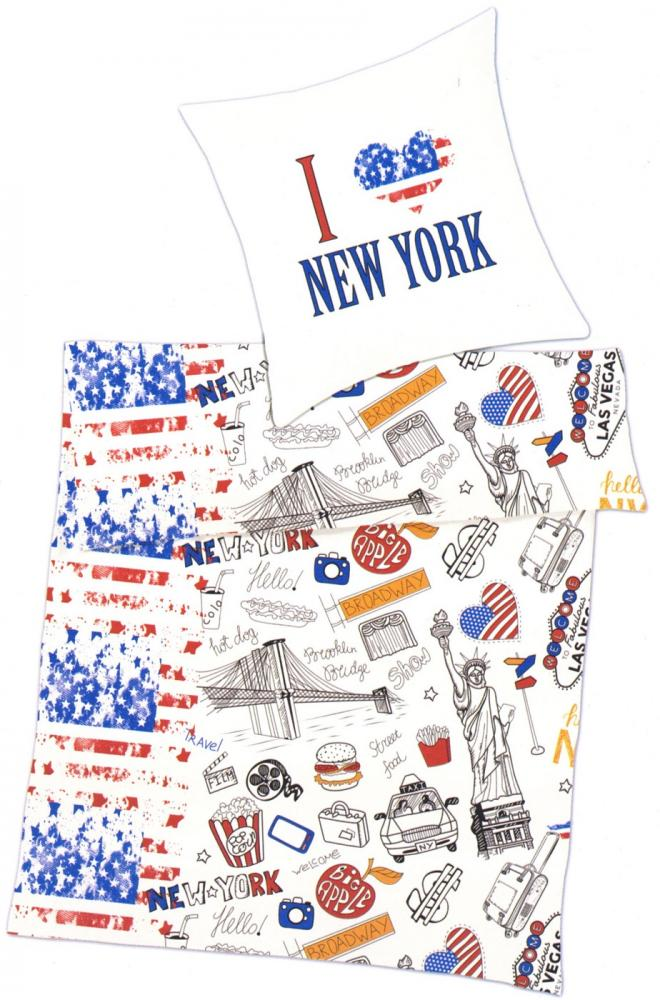 Bettwäsche I love New York - 135 x 200 cm